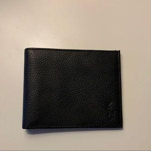 Polo Ralph Lauren Mens Black Leather Wallet
